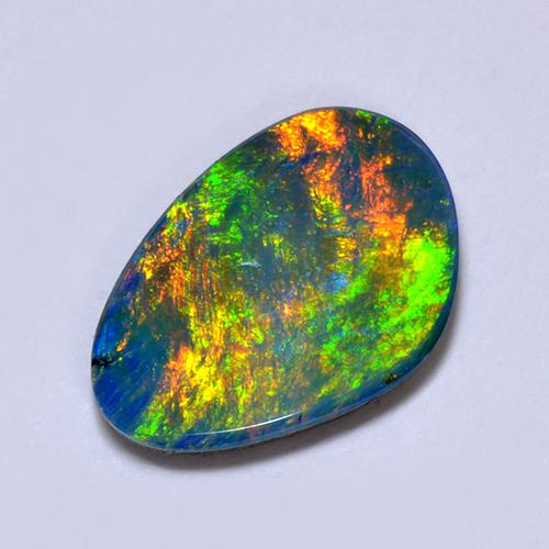 Multicolor Opal Doublet Gem - 1.8ct Fancy Cabochon (ID: 513033)