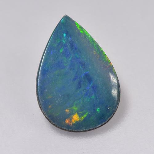 Multicolor Opal Doublet Gem - 0.9ct Pear Cabochon (ID: 516229)