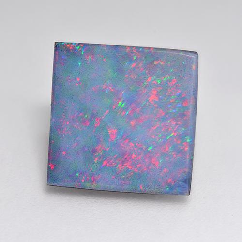 4.23 ct Square Cabochon Multicolor Opal Doublet Gemstone 11.82 mm x 11.8 mm (Product ID: 516424)