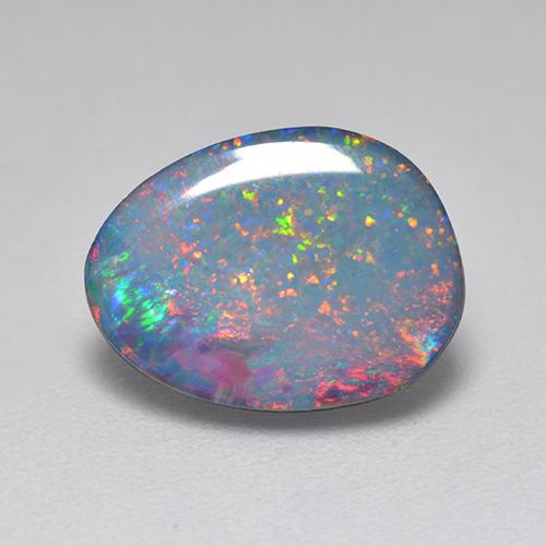 Multicolore Opale doppietta Gem - 2ct Cabochon fantasia (ID: 517263)