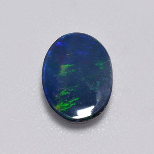 Multicolor Opal Doublet Gem - 0.9ct Oval Cabochon (ID: 517583)