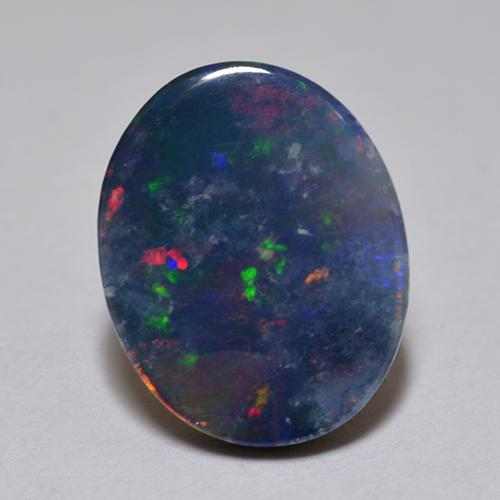 Multicolor Opal Doublet Gem - 1.2ct Oval Cabochon (ID: 517749)