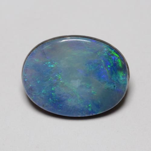 Multicolor Opal Doublet Gem - 2.1ct Oval Cabochon (ID: 542161)