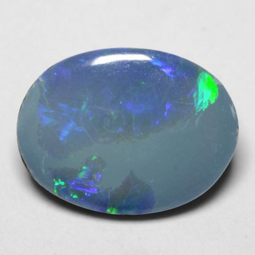 Multicolor Opal Doublet Gem - 3.3ct Oval Cabochon (ID: 542176)