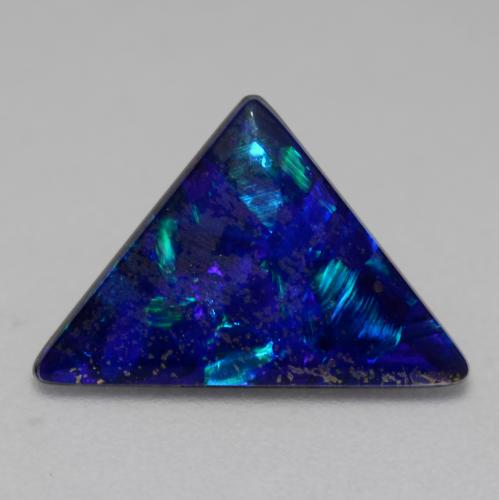 Multicolor Opal Doublet Gem - 1.5ct Triangle Cabochon (ID: 542487)