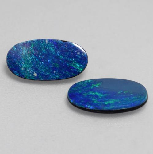 Multicolor Opal Doublet Gem - 0.5ct Oval Cabochon (ID: 543004)
