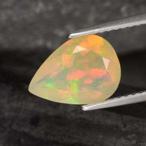 Multicolor Opal Gem - 1.6ct Pear Facet (ID: 308069)