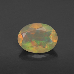 0.66 ct Natural Multicolor Yellowish Green Opal
