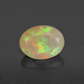 0.82 ct Natural Multicolor Yellowish Green Opal
