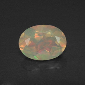 0.93 ct Natural Multicolor Yellowish Green Opal