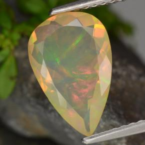 1.3ct Pear Facet Yellow Opal Gem (ID: 311152)