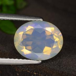 Bluish White Opal Gem - 1.7ct Oval Facet (ID: 314779)