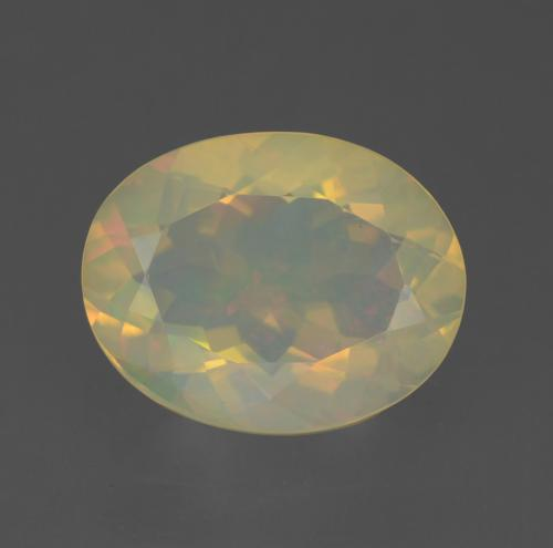 Multicolor Opal Gem - 1.6ct Oval Facet (ID: 315073)