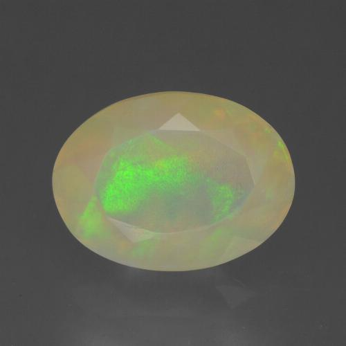 Multicolor Opal Gem - 1.6ct Oval Facet (ID: 315075)