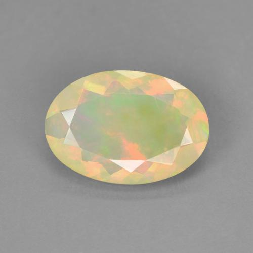 1.41 ct Ovale sfaccettato Multicolore Opale Gem 11.33 mm x 7.9 mm (Photo A)