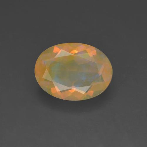 Multicolor Opal Gem - 1.1ct Oval Facet (ID: 318265)