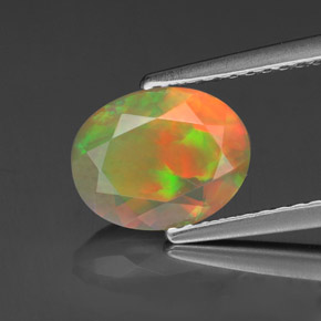 Buy 1.11 ct Multicolor Opal 9.04 mm x 7.1 mm from GemSelect (Product ID: 318323)