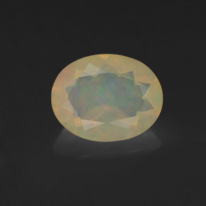 Multicolor Opal Gem - 1ct Oval Facet (ID: 318400)