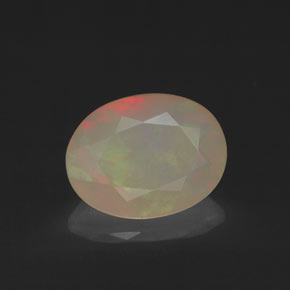 Multicolor Opal Gem - 1.1ct Oval Facet (ID: 320214)