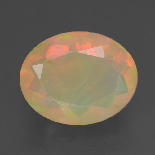Multicolor Opal Gem - 1.3ct Oval Facet (ID: 461645)