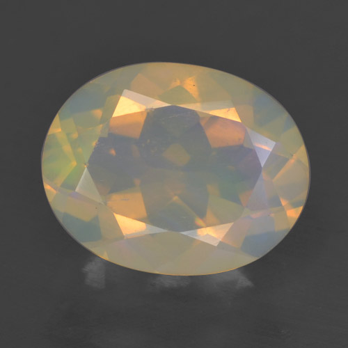 Multicolor Opal Gem - 1.5ct Oval Facet (ID: 461737)