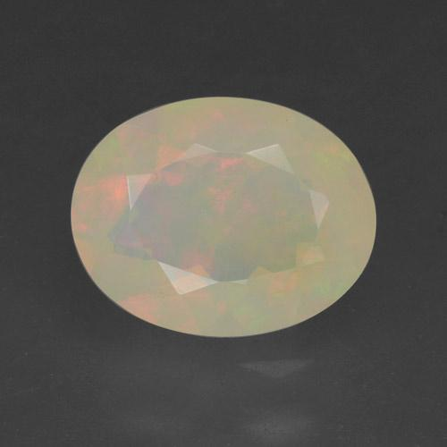 Multicolor Opal Gem - 1.1ct Oval Facet (ID: 461785)