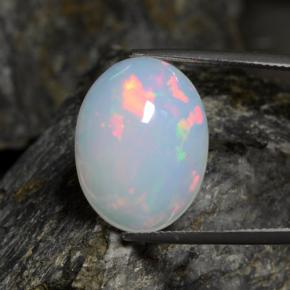thumb image of 13.4ct Oval Cabochon White Opal (ID: 462138)