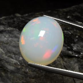 thumb image of 14.1ct Oval Cabochon White Opal (ID: 462224)