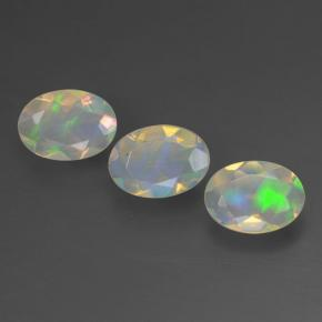 Multicolor Opal Gem - 0.4ct Oval Facet (ID: 462632)