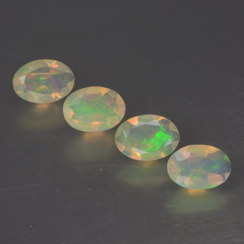 Multicolor Opal Gem - 0.4ct Oval Facet (ID: 462722)