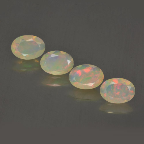 Multicolor Opal Gem - 0.4ct Oval Facet (ID: 462795)