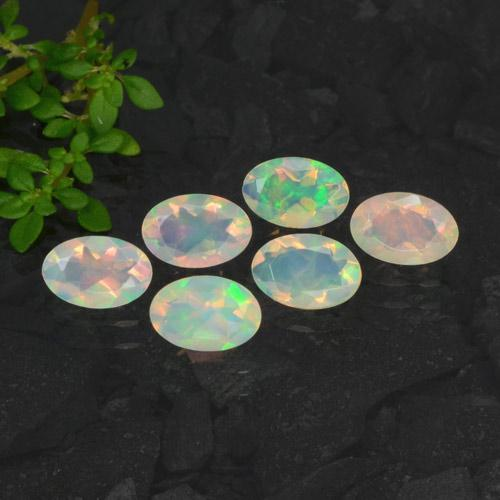 Multicolor Opal Gem - 0.3ct Oval Facet (ID: 471718)