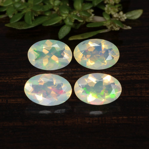 Yellow Opal Gem - 0.3ct Oval Facet (ID: 471737)