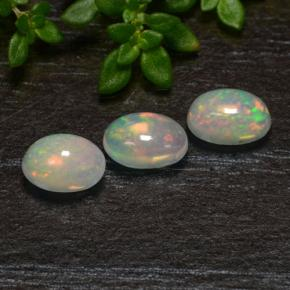 Multicolor Opal Gem - 0.4ct Oval Cabochon (ID: 475545)