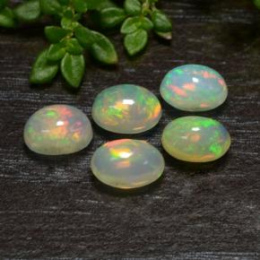 Multicolor Opal Gem - 0.4ct Oval Cabochon (ID: 475553)