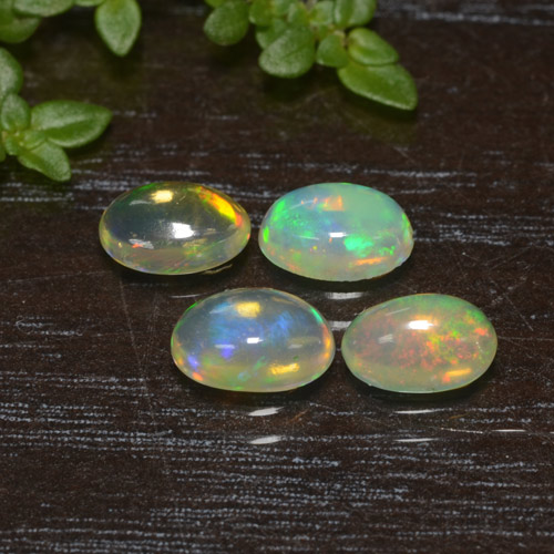 Yellow Opal Gem - 0.3ct Oval Cabochon (ID: 476600)