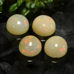 Yellow Opal Gem - 0.6ct Round Cabochon (ID: 477426)