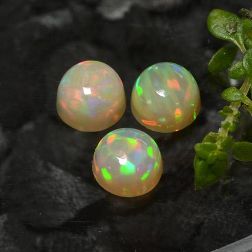 Yellow Opal Gem - 0.5ct Round Cabochon (ID: 477529)