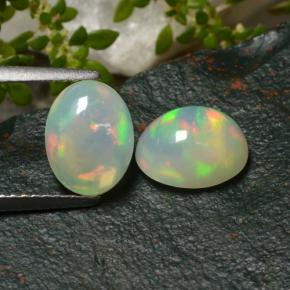 Yellow Opal Gem - 1.3ct Oval Cabochon (ID: 479161)