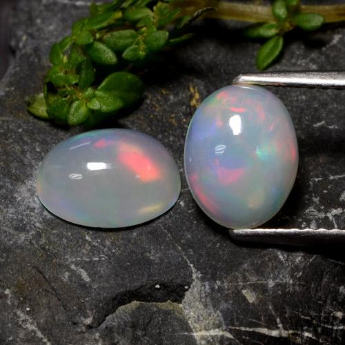 Multicolor Opal Gem - 1.1ct Oval Cabochon (ID: 479739)