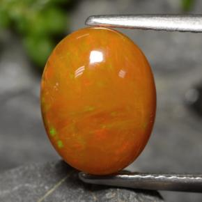 1.8ct Ovale Cabochon Orange vif Opale gemme (ID: 479773)