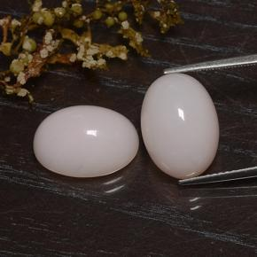 Light Pink Opal Gem - 5.1ct Oval Cabochon (ID: 483600)