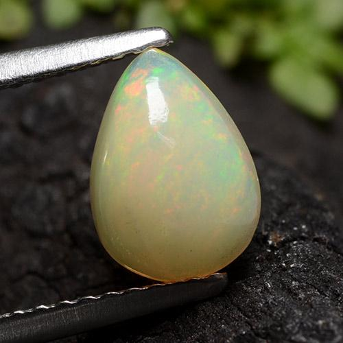 Yellow Opal Gem - 0.9ct Pear Cabochon (ID: 490653)