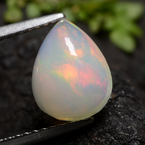 Yellow Opal Gem - 1.6ct Pear Cabochon (ID: 490654)