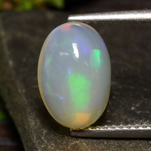 Multicolor Opal Gem - 2.5ct Oval Cabochon (ID: 499012)