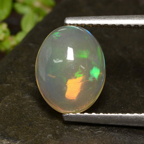 Multicolor Opal Gem - 1.3ct Oval Cabochon (ID: 499016)