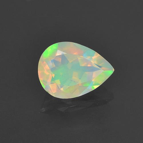 0.7ct Pear Facet Multicolor Opal Gem (ID: 505448)