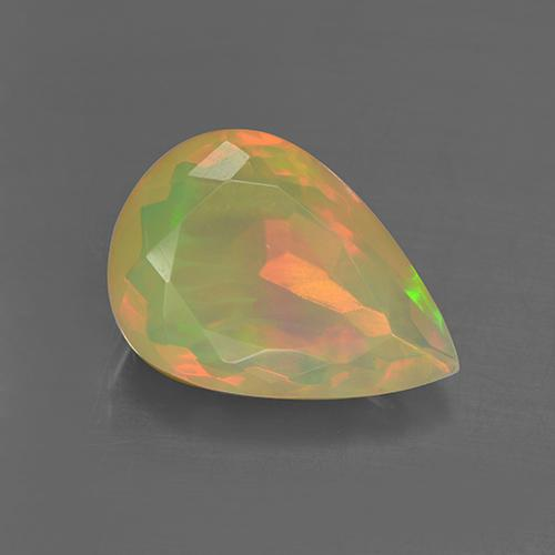2.82 ct Pear Facet Multicolor Opal Gemstone 13.46 mm x 9.5 mm (Product ID: 506141)