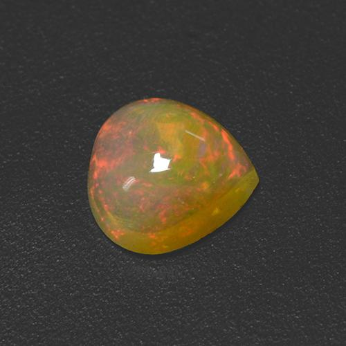 Multicolor Opal Gem - 0.5ct Pear Cabochon (ID: 506184)