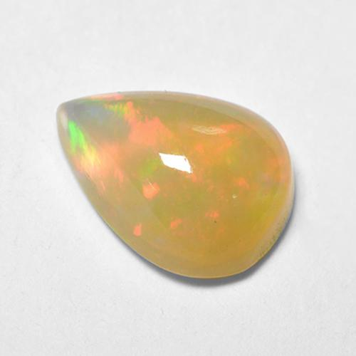 Multicolor Opal Gem - 0.7ct Pear Cabochon (ID: 515844)